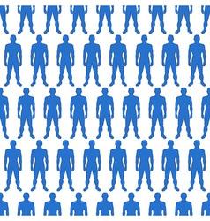 Men silhouette pattern vector