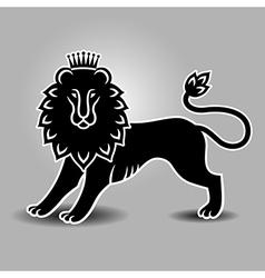 Lion symbol standing vector