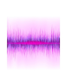 Pink sound wave on white background  eps8 vector
