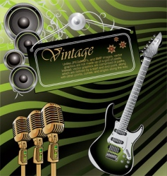 Vintage rock music background vector