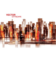 Modern cityscape background vector