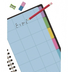 Graph paper notebook vector
