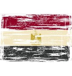 Egyptian grunge flag vector