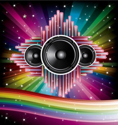 Disco background vector
