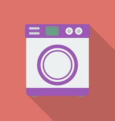 Washing machine icon modern flat style with a long vector
