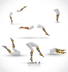 Legs and socks vector