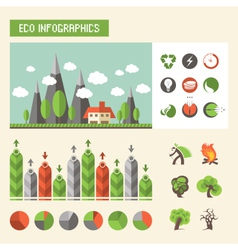Eco infographics vector