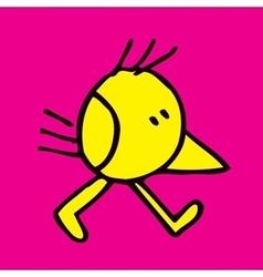 Bird character 2 vector
