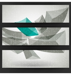 Abstract geometric shapes vector