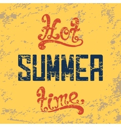 Hot summer time calligraphic handwritten vintage vector