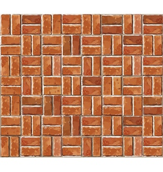 Red brick wall seamless background vector