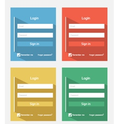 Login forms vector