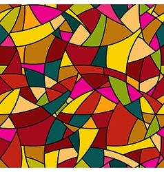 Seamless pattern - stained-glass window texture vector