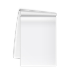 Isolated open notebook on white vector