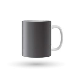 Black mug vector