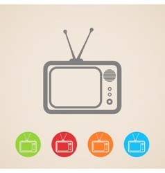 Tv icons vector