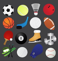 Sport icons collection vector