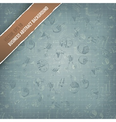 Business graphs background vector