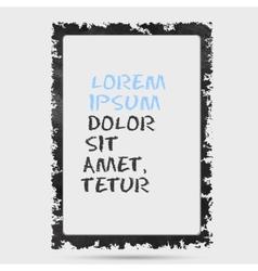 Black grunge frame on a wall background design vector