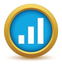 Gold graph icon vector