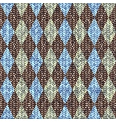 Classic argyle pattern in knitting style vector