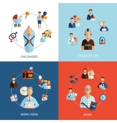 Stages of life set vector