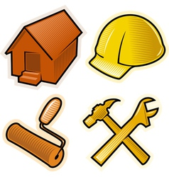 Objects for construction business vector