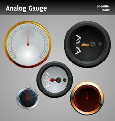 Analog gauge icon vector