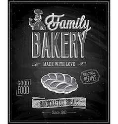 Bakery chalk vector