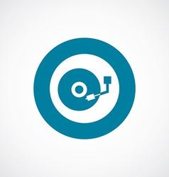 Dj icon bold blue circle border vector