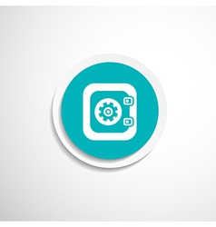 Flat icon safe lock finance bank security vector