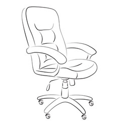 Computer chair vector