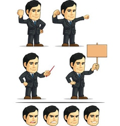 Businessman or company executive customizable 3 vector