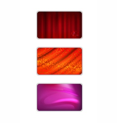 Set abstract red tones drapery background vector