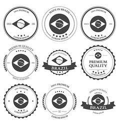 Made in brazil seals badges vector