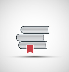 Icons stacks of books vector