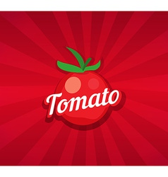 Tomato on red background vector