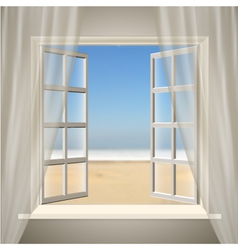 Opening window vector