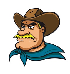 American cowboy vector