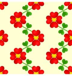 Heart flower seamless wallpaper vector