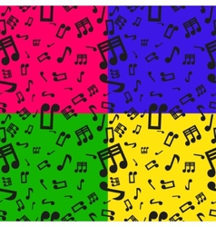 Seamless musical notes pattern vector