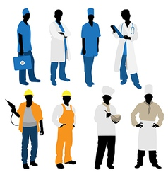 Professions silhouettes vector