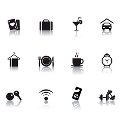06 hotel icons vector