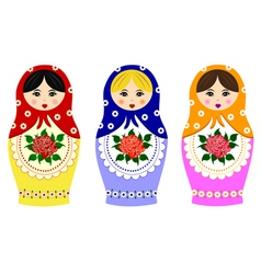 Traditional russian matryoshka vector