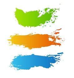 Colorful paint splash vector