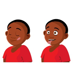 Boy hungry expressions vector