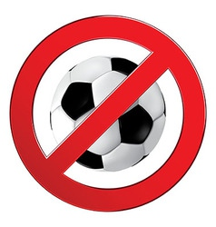 No ball games football soccer vector