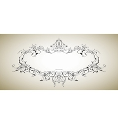 Frame with floral elements for registration 5 vector