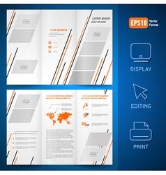 Brochure design template leaflet geometric vector