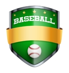 Baseball shield badge vector